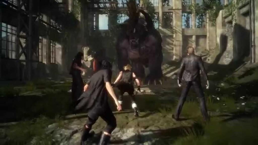 final fantasy xv kampf gegen behemoth